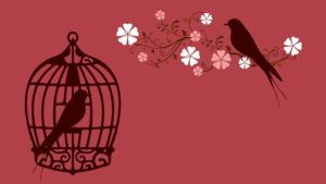 Like a bird in a cage we are not free.
